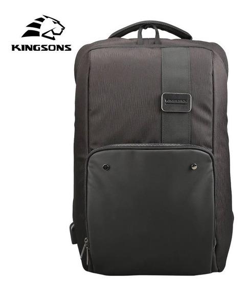 Mochila Kingsons Laptop, Macbook, iPad Até 17.1 1 Porta Usb