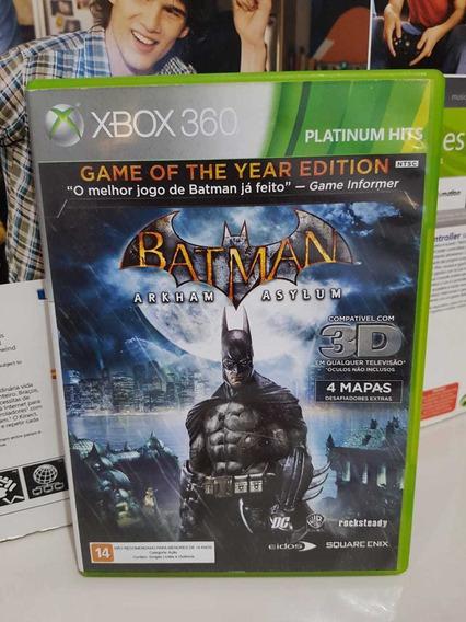 Batman Arkhan Asylum Xbox 360 Midia Física Pronta Entrega