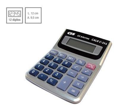 Calculadora De Mesa Calk C-214 12 Dígitos 03 Unidades Cis