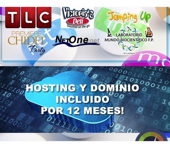 Pagina Web + Hosting + Dominio .com