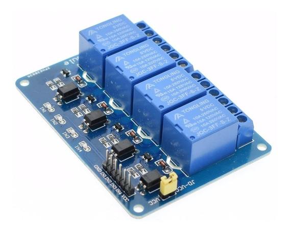 Módulo Rele 4 Canais 5v Com Optoacopladores Para Arduino!!!