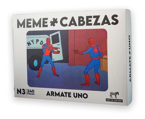 Juego De Mesa Memecabeza Fight Rompecabeza Edicion Spiderman