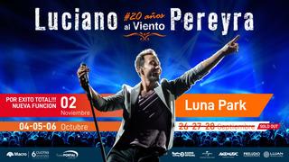 Entradas Luciano Pereyra Cabeceras Viernes 27/09
