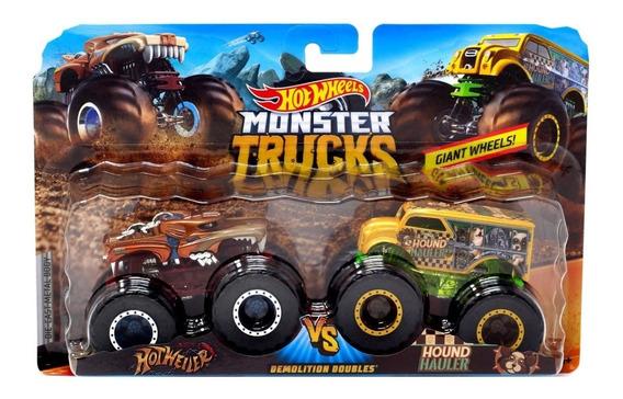 Carrito Hot-wheels Monster Trucks Paq. 2 Und Hotwheels