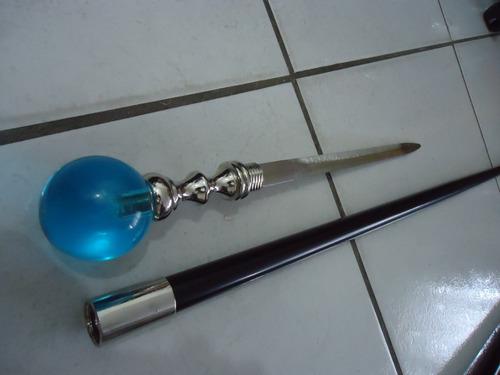 Bengala Espada Bola Cristal Camuflada 3 Cores Diferentes | Mercado Livre