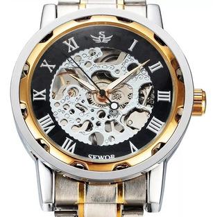 Reloj A Cuerda Clasico Malla Metal Calidad Con Estuche