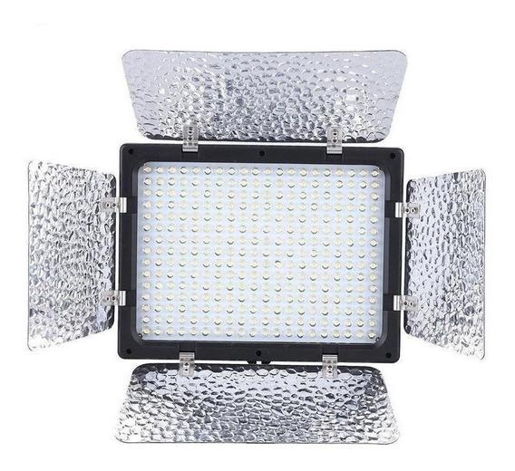 Luz contínua tipo painel Wansen W300 branca-quente/branca-fria