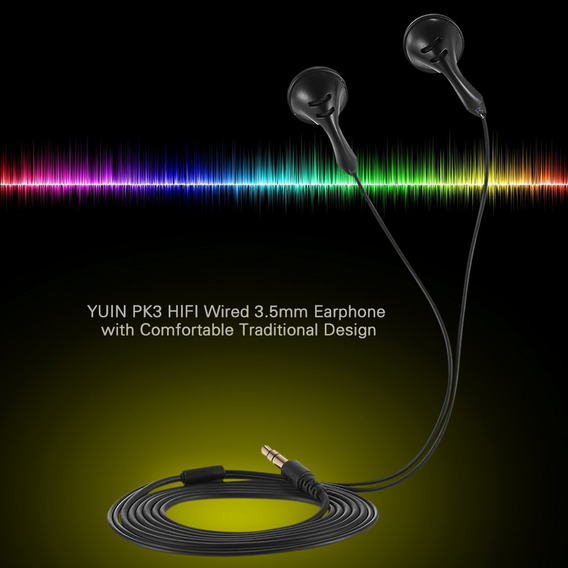 Yuin Pk3 Alta Filhi Fone De Ouvido 3.5mm Alta Sensibilidade
