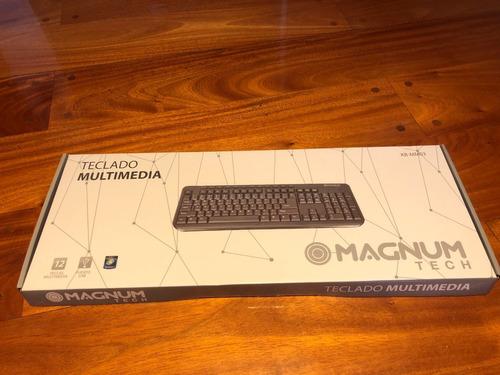 Teclado Magnum Tech Con Teclas Multimedia