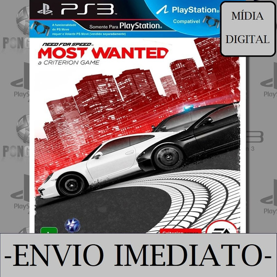 Need For Speed Most Wanted Ps3 Psn Mídia Digital Envio Agora