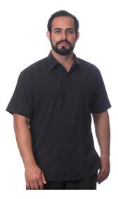 Camisa Manga Curta Preta Tamanhos Do 1 Ao 8