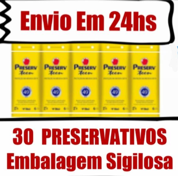 Preserv Teen Kit Com 30 Preservativos Camisinha Juvenil 49mm