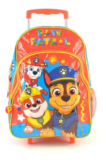 Mochila 16 Paw Patrol Patrulla Canina Con Carro 88523