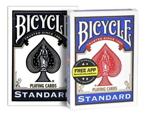 Imagem 1 de 5 de Baralho Bicycle Standard Preto + Bicycle Standard Azul