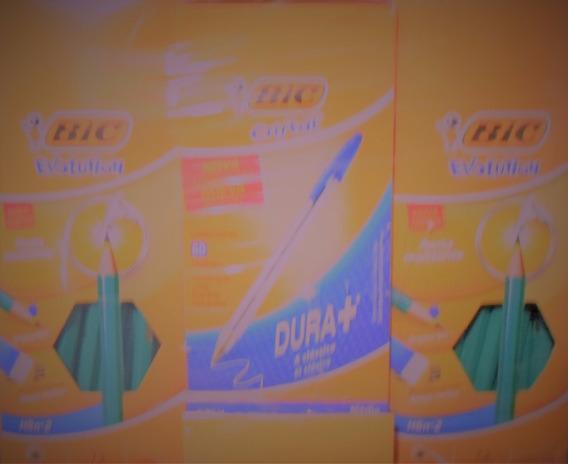Lapis Evolution Bic 2cx. + 1cx. De Caneta Cristal 1.0mm Bic