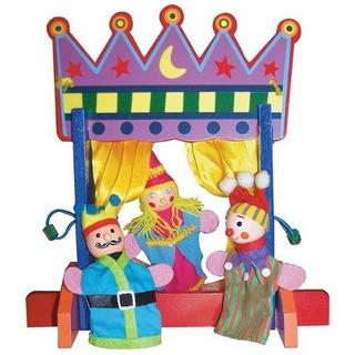 Juego De Teatro Sassafras Finger Puppet Theatre