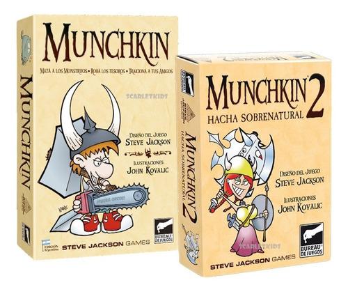 Imagen 1 de 7 de Munchkin + Munchkin 2 Combo Juego De Mesa Scarletkids Bureau