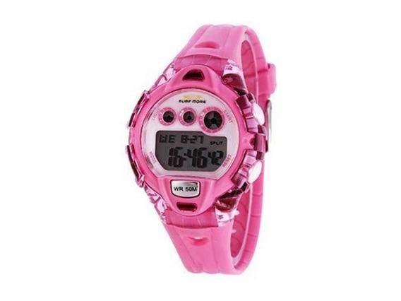 Relógio Digital Kids Feminino Surf More Rosa 6552491f Ro