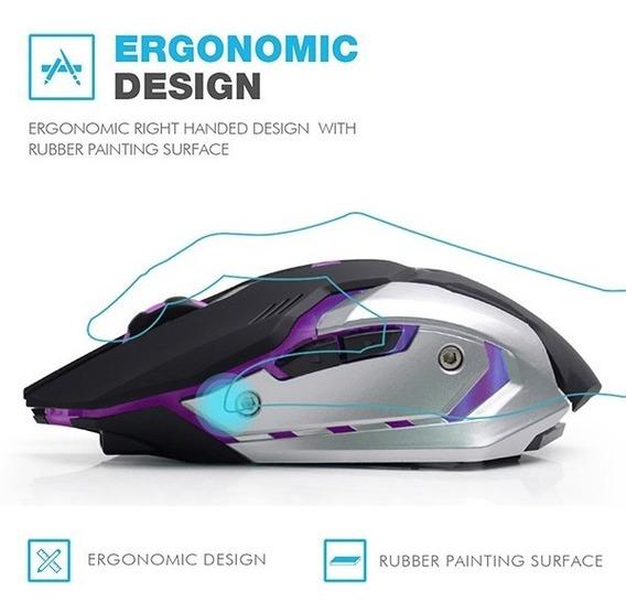 Mouse Gamer Azzor S/ Fio 2.4ghz 3000dpi Bateria Recarregável