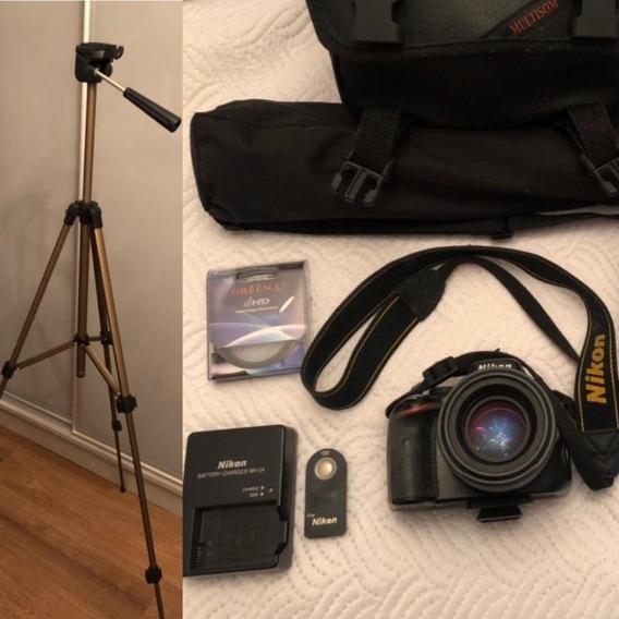 Camera Nikon D5100 + Lente 18-55mm + Tripé + Acessórios