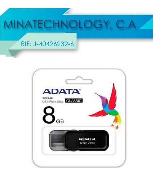 Pendrive Adata 8gb Black