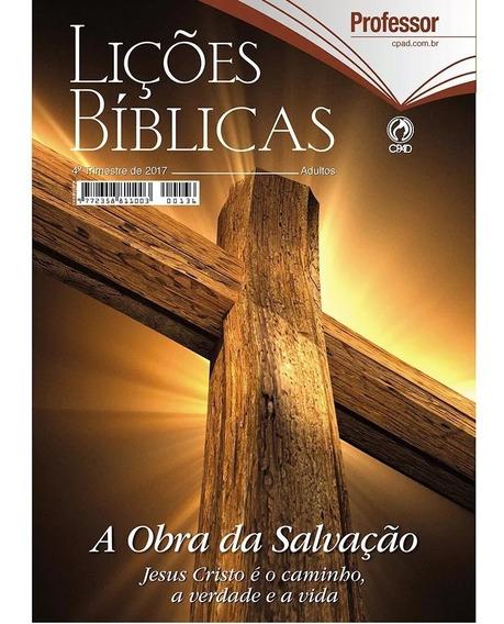 Revista Lições Bíblicas 4º Trimestre De 2017 (professor)