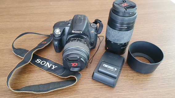 Oportunidade! Kit Câmera Dslr Sony Alpha A390