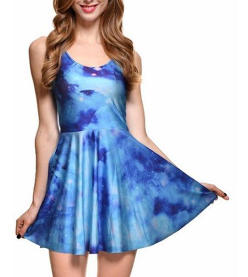 Vestido Corto Juvenil Casual Azul