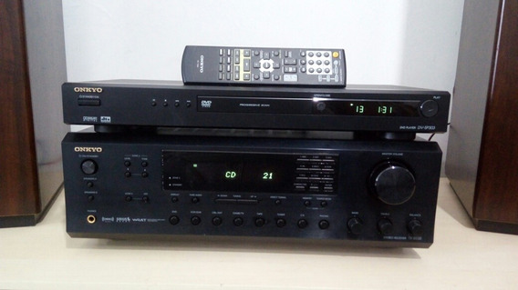 Conjunto Receiver Tx 8555 Dvd Sp303 Onkyo Ok! Veja O Video