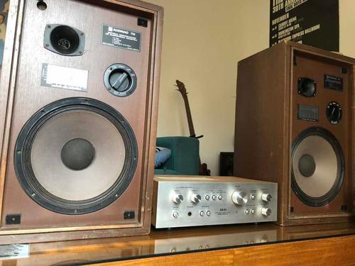 Amplificador Akai - Bafles Audinac 718