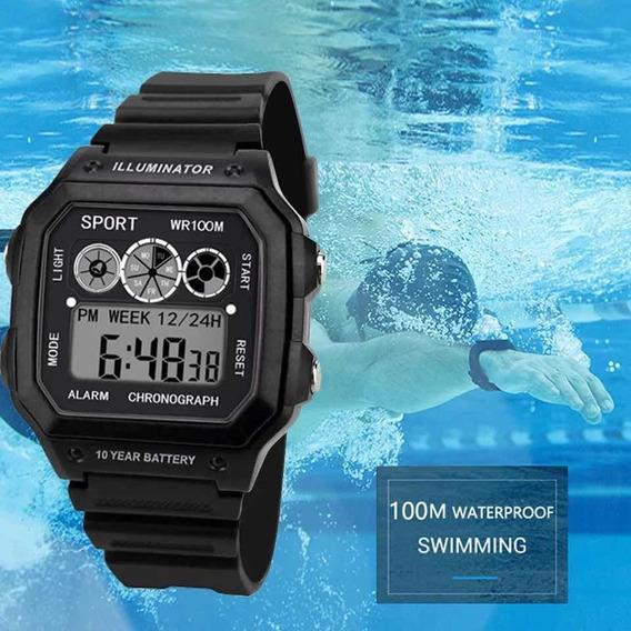 Relógio Masculino Esportivo Digital Led