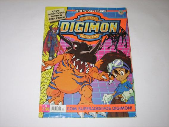 Digimon - Digital Monsters - Revista Para Colorir - 2000