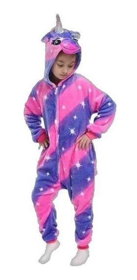 Pijama Kigurumi Unicornio Violeta Y Fuxia Niños/adulto