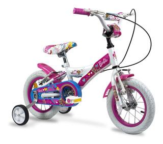 Bicicleta Rodado 12 Barbie Acero Rayos