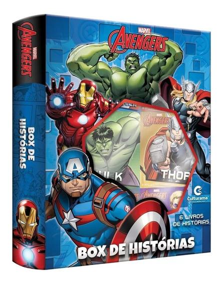 Box De Histórias Os Vingadores Com 6 Livrinhos - Culturama