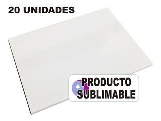 20 Cartones Blancos Para Sublimación Cartón Sublimable A4
