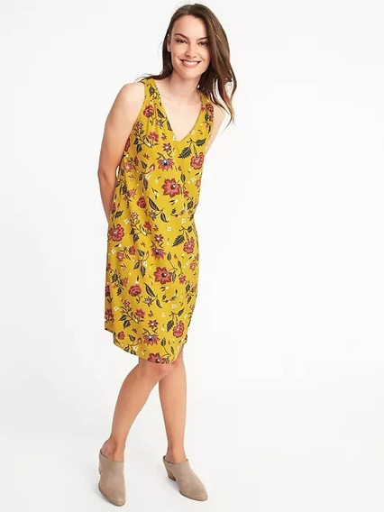 Vestido Old Navy Estampado Talle Xxl De Usa - 7226
