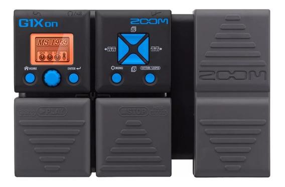 Pedaleira G1xon Multi-efeitos Zoom P/ Guitarra G1 X G1x On