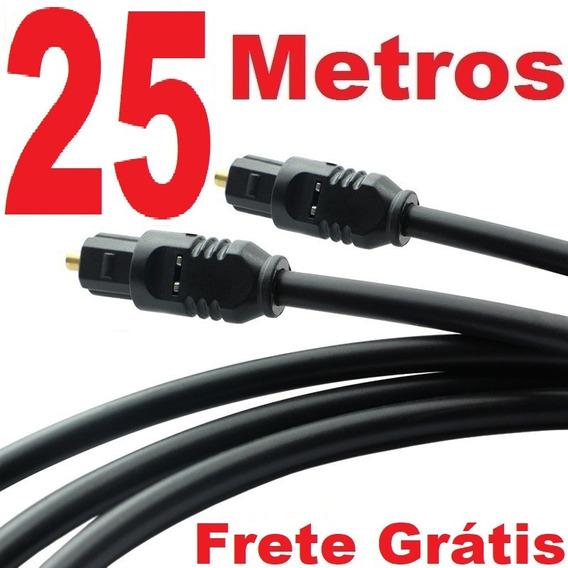 Cabo Óptico Digital Toslink - 25 Metros 25 Mts (fibra Ótica)
