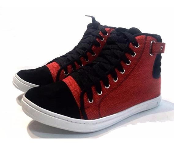 Mal018 Zapatillas Estilo Botitas Rojo Del 41 Al 44