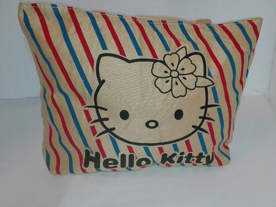 Bolso Cartera Hello Kitty De Tela Grande