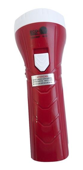 Lanterna Recarregável 1 Led Eco 8657 Eco Lux Bivolt