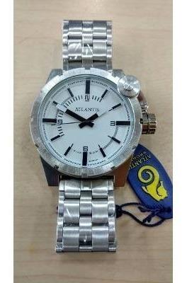 Relógio Original Atlantis Prata Estilo Diesel Caixa E Nota