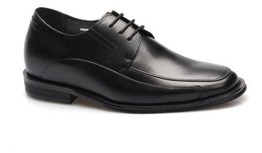 Armano Negro Zapato Formal Con Altura 7cm+ Novios Trajes
