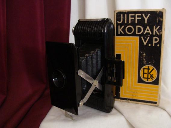 Antigua / Vintage Mini Cámara De Fuelle Jiffy Kodak V.p.