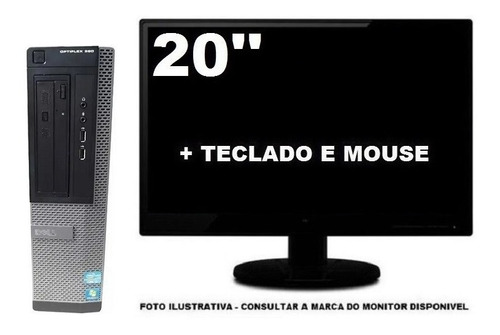 Computador Dell Optiplex 390 Intel I5 4gb 120ssd - Semi Novo