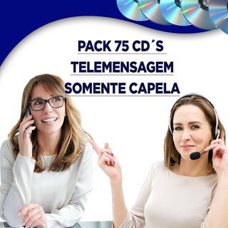 Pack 75 Cd´s Telemensagens Capela Envio Digital Frete Grátis