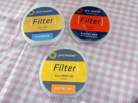 Filtro Promaster Nd4x 67mm - Original - Na Caixa + Frete !