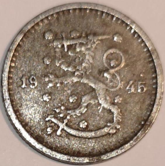 Finlandia 1945 50 Pennia 2da Guerra Mundial L29519