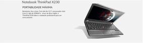 Notebook Tablet Lenovo Thinkpad X230 I5 4gb Ram 320 Gb Hd